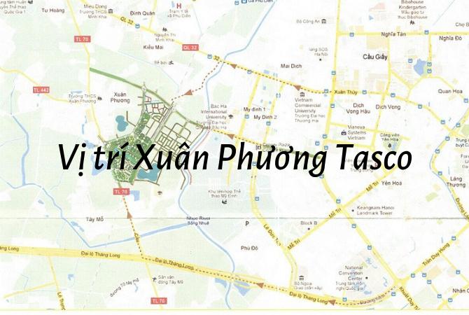 Vị trí – Quy hoạch Khu đô thị Xuân Phương Tasco